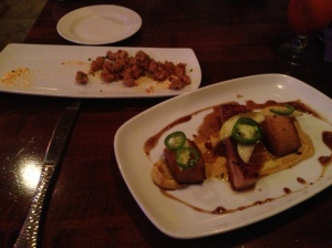 NOLA Fried Alligator and Pork Belly
