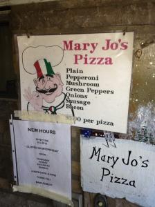Mary Jo's Menu